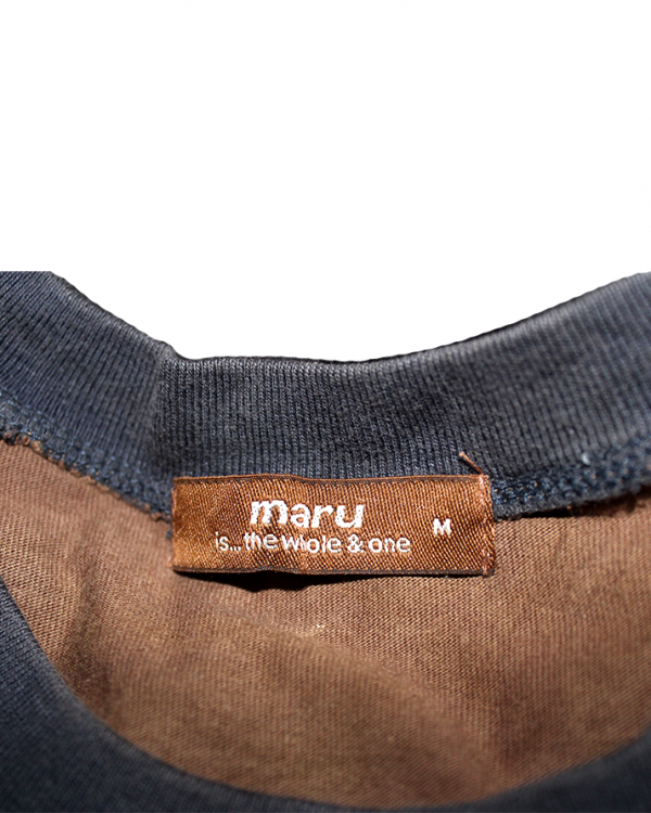 Maru Plain Style Brown Cotton T-Shirt For Men