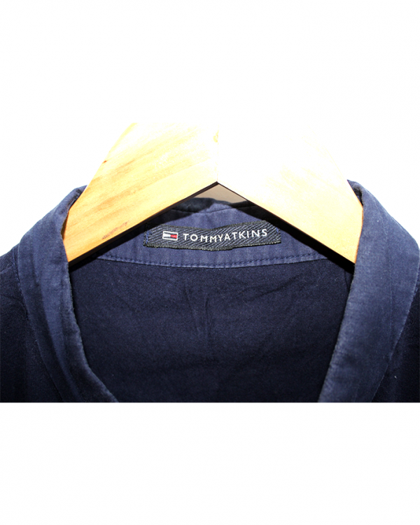Tommy Atkins Polo Style Blue Cotton T-Shirt For Men