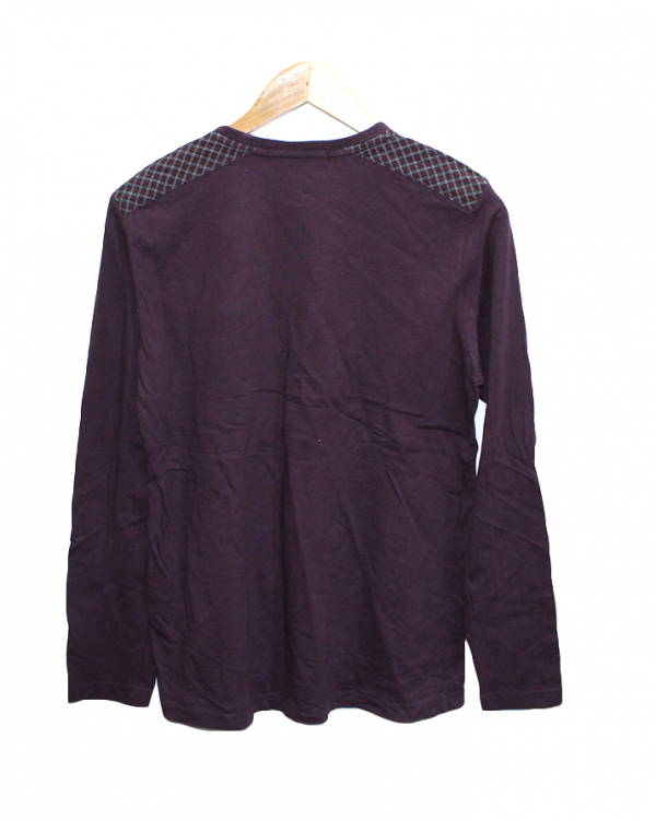 J. Polack Plain Maroon Cotton T-Shirt2