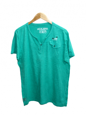 Jack & Jones Pocket Style Green Cotton T-Shirt