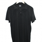 Profashion Polo Style Plain Black Cotton T-Shirt