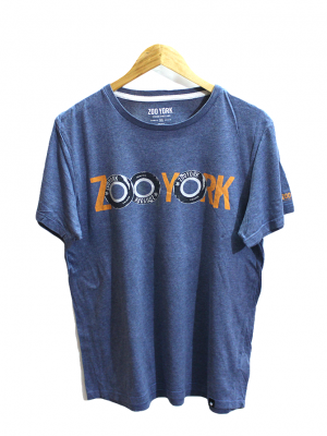 Zoo York Printed Blue Cotton T-Shirt
