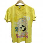 Casual Ed Hardy To The Strees Print Round Neck Cotton T-Shirt