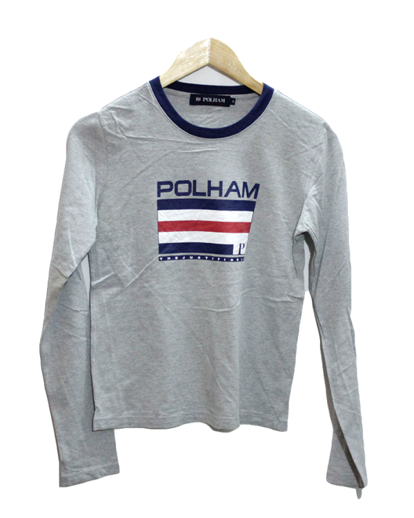 Polham T shirt Grey The Justification Decent Print Round Neck Cotton T-Shirt