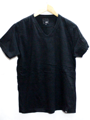 Casual Plain V-Neck Cotton T-Shirt