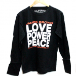 Latest James Brown Love Power Peace Print Round Neck Original Cotton T-Shirt