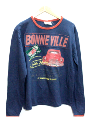 Latest Bonne Ville Print Round Neck Original Cotton T-Shirt