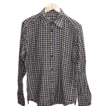 1Bryan Husky Casual Cheek With New Button Style Original Cotton Shirt