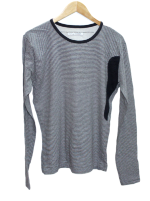 Heritage Khoon Tshirt Grey & Black Round Neck Line with Unique Side border Style Cotton T-Shirt