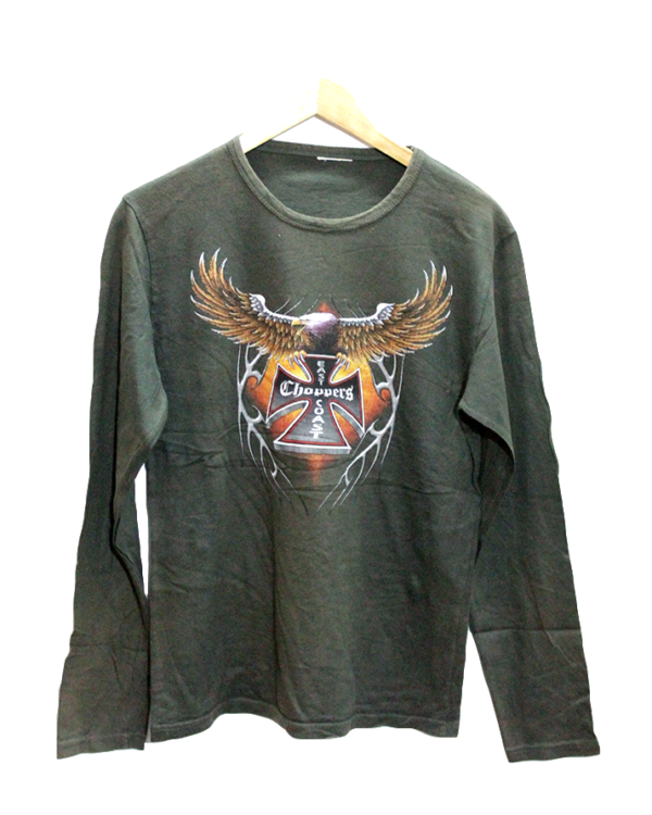 Newly Eagle Print Style Round Neck Cotton T-Shirt For Men