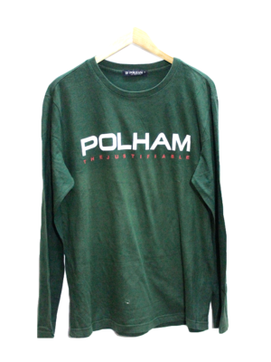 Simple Polham Printed Round Neck Cotton T-Shirt