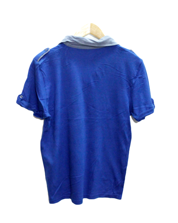 Decent Polo Style With Fabric Work Round Neck Cotton T-Shirt