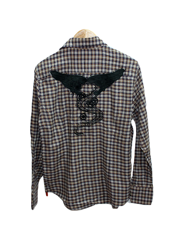 Bryan Husky Casual Cheek With New Button Style Original Cotton Shirt
