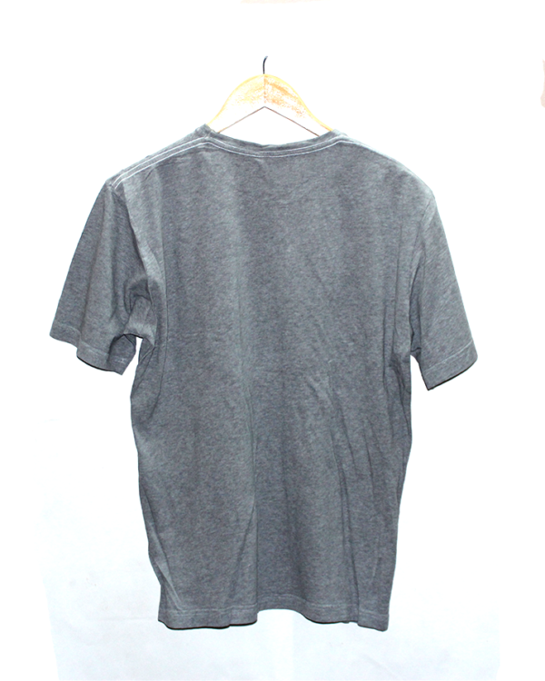 Esprit Simple Alphabet Print Round Neck Cotton T-Shirt For Men