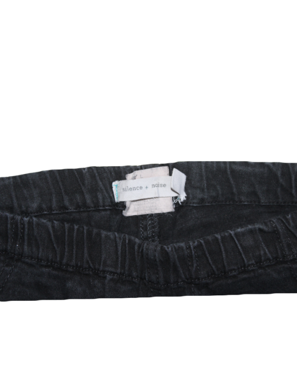 Casual Plain Black Jeans For Women