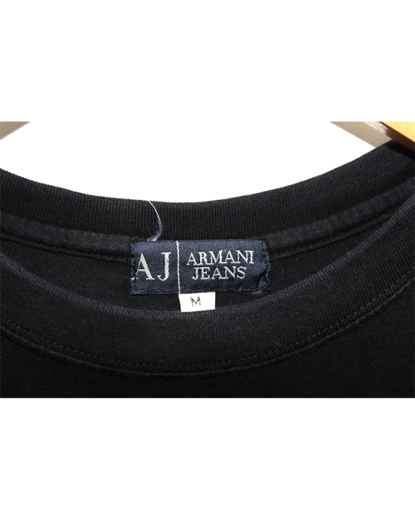 Armani Jeans Tshirt Aj Front & Back Stylish Design Print Round Neck Cotton T-Shirt For Men