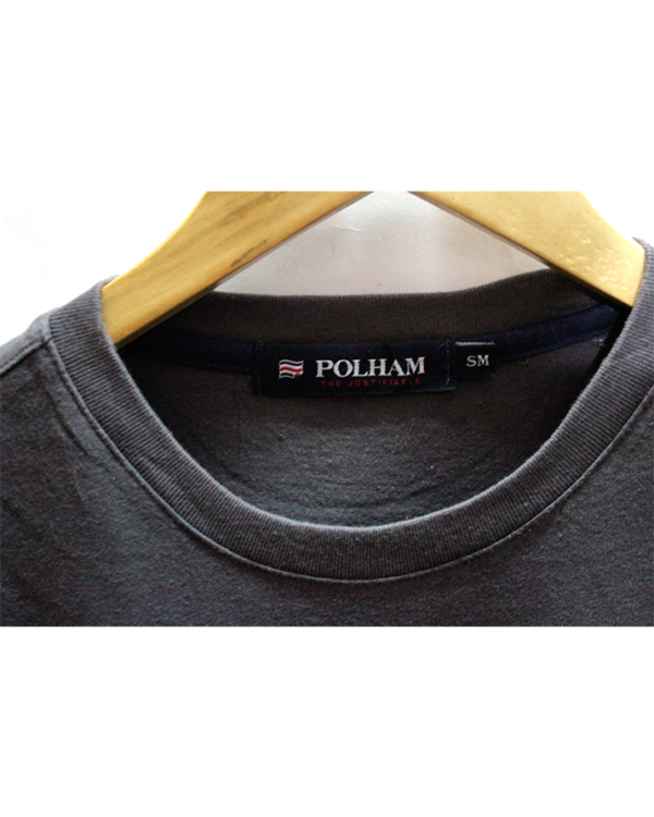 Simple Polham Fornt & Back Printed Round Neck Cotton T-Shirt