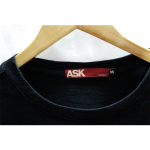 Decent Enquired ASK Style Round Neck Cotton T-Shirt