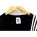 Casual Adidas 3 Strips Plain Front & Back Print Round Neck Cotton T-Shirt