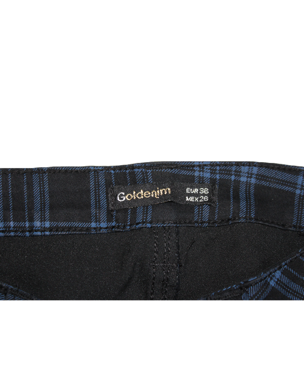 Goldenim Casual Cheek Black Cotton Jeans For Women