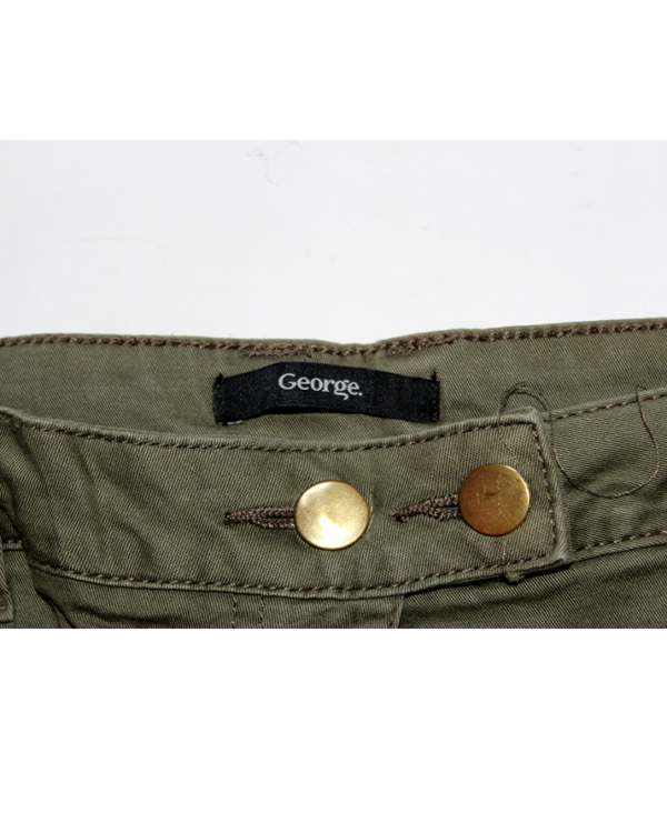 George Casual Fabric Style Green Cotton Jeans For Women