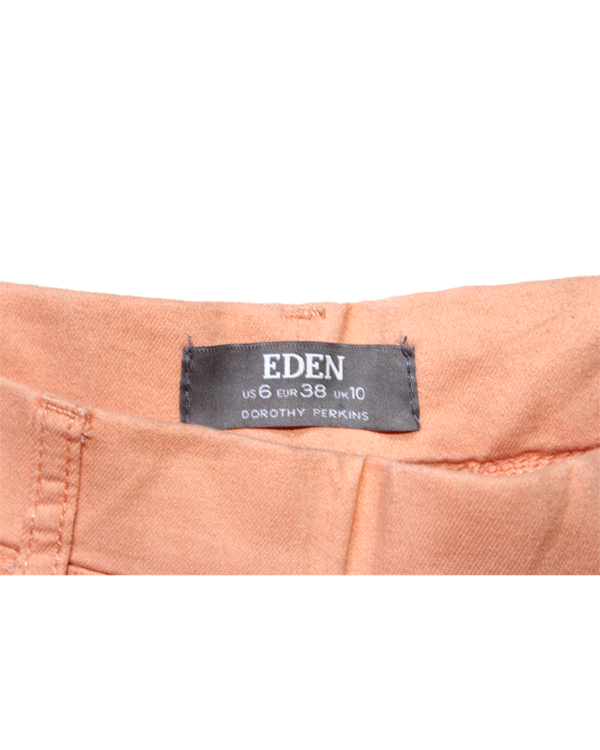 Dorothy Perkins Eden Casual Plain Peach Cotton Jeans For Women
