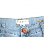 River Island Damage Style Sky Blue Jeans For Girl