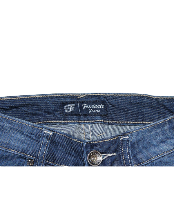 Fascinate Casual Damage Style Blue Jeans For Women