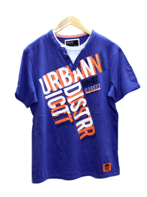 Casual Urban Style Print Round Neck Cotton T-Shirt