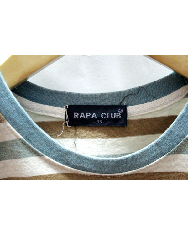 Rapa Club Tshirt Lines Style Simple Print Round Neck Cotton T-Shirt
