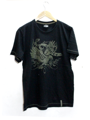 Decent Nest Of Eagle Round Neck Cotton T-Shirt