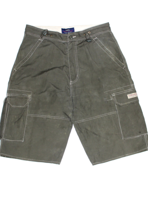O'Conell Casual Pocket Style Green Cotton Half Short For Men
