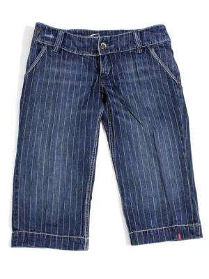 Craft Casual Strips Style Jeans Short For Women