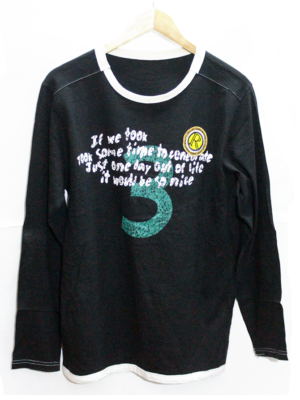 Casual Printed Black Full Sleeves Original Cotton T-Shirt