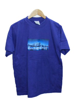 Adler Casual Printed Blue Half Sleeves Original Cotton T-Shirt