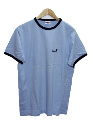 Jerzees Casual Printed Sky Blue Half Sleeves Original Cotton T-Shirt