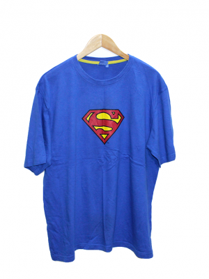 Superman Casual Printed Blue Half Sleeves Original Cotton T-Shirt