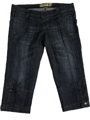 R.Marks Casual Fabric Style Black Jeans Short For Men