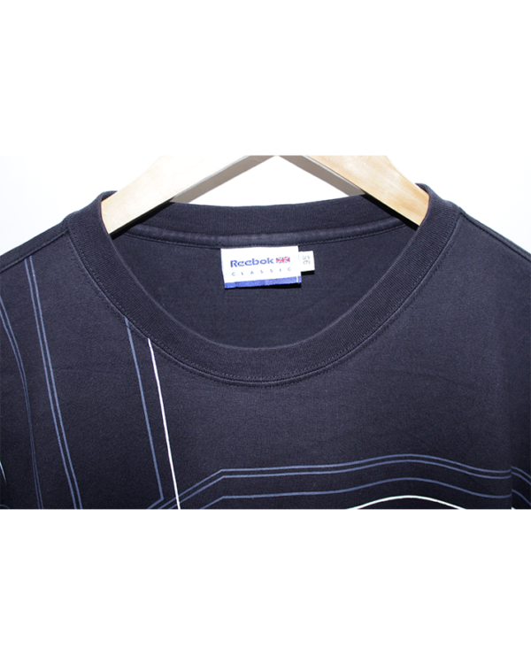 Reebok Casual Printed Black Full Sleeves Original Cotton T-Shirt