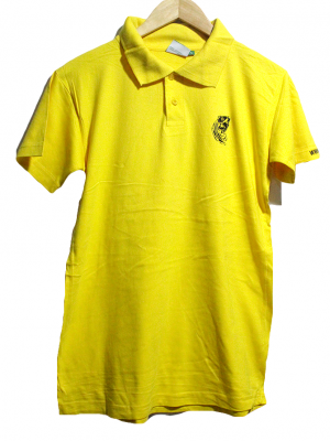 Adlev Casual Polo Style Yellow Half Sleeves Original Cotton T-Shirt