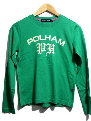 Polham Casual Green Printed Full Sleeves Original Cotton T-Shirt