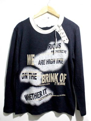 Tee Num Eye Casual Black Printed Full Sleeves Original Cotton T-Shirt