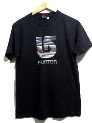 Burton Casual Black Printed Half Sleeves Original Cotton T-Shirt