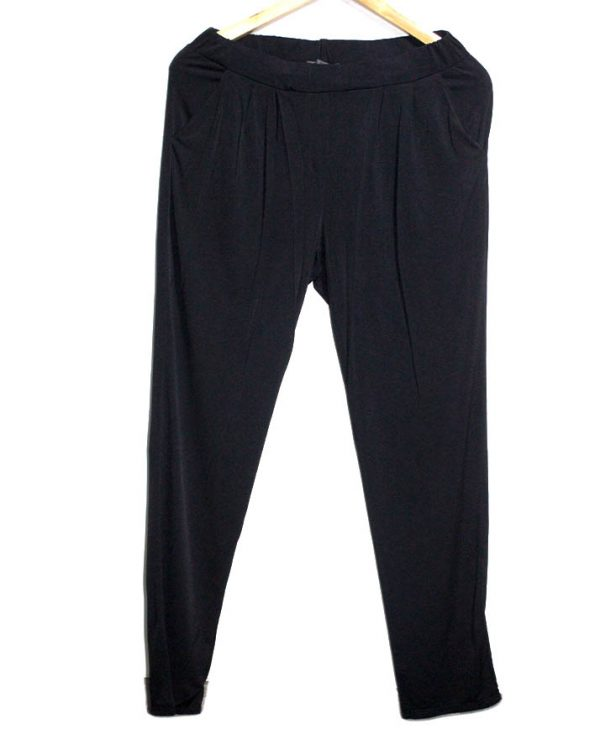 Classic Collection Casual Style Black Printed Trouser For Women