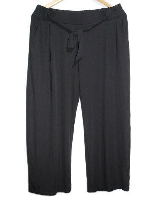 Armand Thiery Casual Style Black Plain Trouser For Women