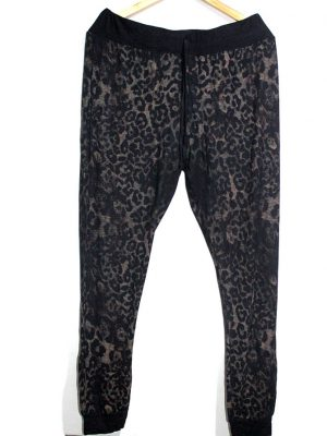 Atmosphere Casual Style Black Printed Trouser For Women