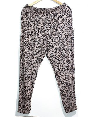 H&M Casual Style Black Printed Trouser For Women