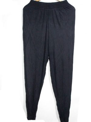 H&M Casual Style Black Plain Trouser For Women