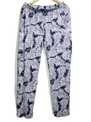 JBC Casual Style White Printed Trouser For Women