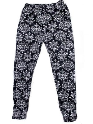 Moda D&F Casual Style Black Printed Trouser For Women